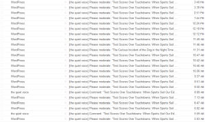 "My inbox after being freshly pressed. And that's only the first page, after deleting all of the ""like"" and ""follow"" notifications..."