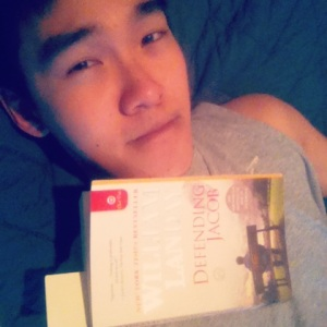 Selfie with my current read! To show that I'm still alive... or something.